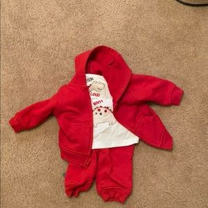 Red Sweatsuit for Baby Boy